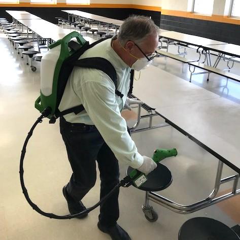Pack spraying